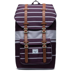 Herschel Little America Plecak, prep stripe blackberry wine